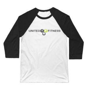 Logo - 3/4 Sleeve Baseball T-shirt - White/Black Thumbnail