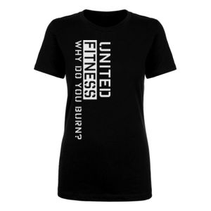 Burn - Ladies Short Sleeve T-shirt - Black Thumbnail
