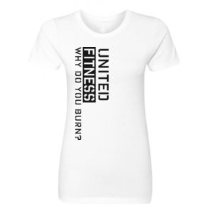 Burn - Ladies Short Sleeve T-shirt - White Thumbnail