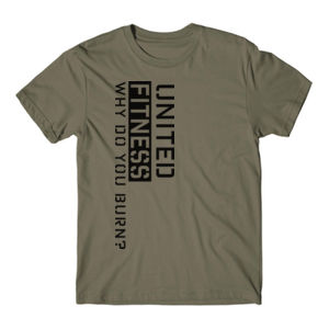 Burn - Short Sleeve T-shirt - Military Green Thumbnail