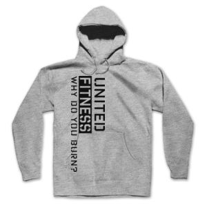Burn - Hooded Pullover Sweatshirt - Light Heather Gray Thumbnail